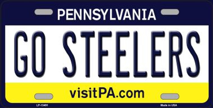 Go Steelers Novelty Metal License Plate Tag LP-13491