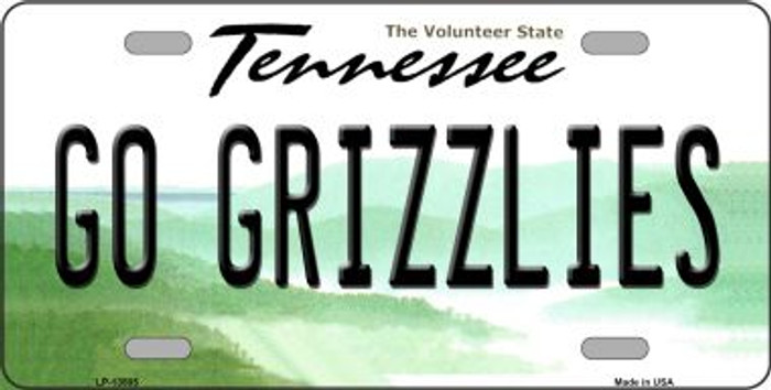 Go Grizzlies Novelty Metal License Plate Tag LP-13505