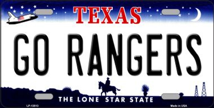 Go Rangers Novelty Metal License Plate Tag LP-13513