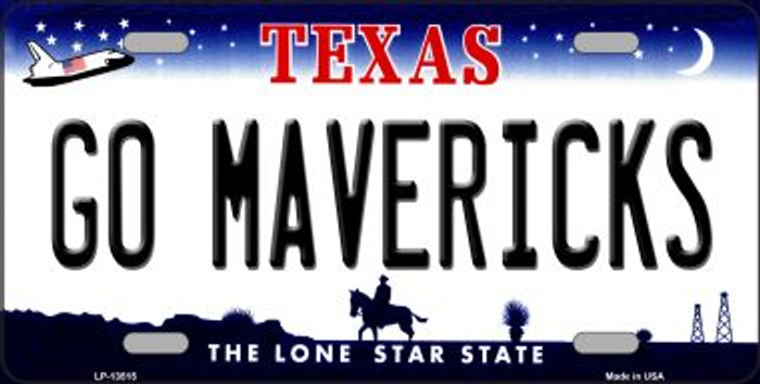 Go Mavericks Novelty Metal License Plate Tag LP-13515