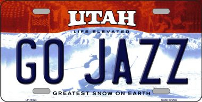 Go Jazz Novelty Metal License Plate Tag LP-13523