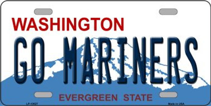 Go Mariners Novelty Metal License Plate Tag LP-13527