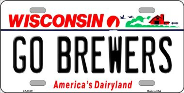 Go Brewers Novelty Metal License Plate Tag LP-13531