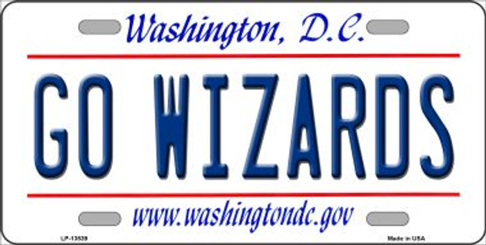 Go Wizards Novelty Metal License Plate Tag LP-13539