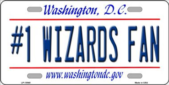 Number 1 Wizards Fan Novelty Metal License Plate Tag LP-13540