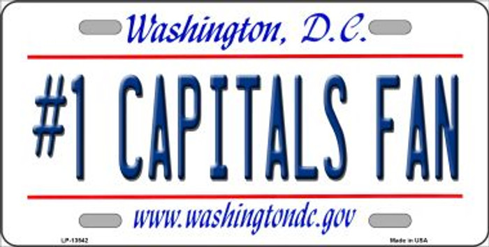 Number 1 Capitals Fan Novelty Metal License Plate Tag LP-13542
