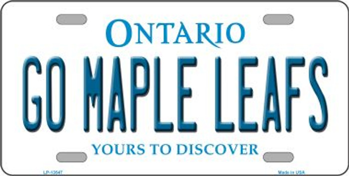 Go Maple Leafs Novelty Metal License Plate Tag LP-13547