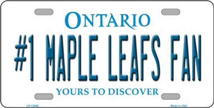 Number 1 Maple Leafs Fan Novelty Metal License Plate Tag LP-13548
