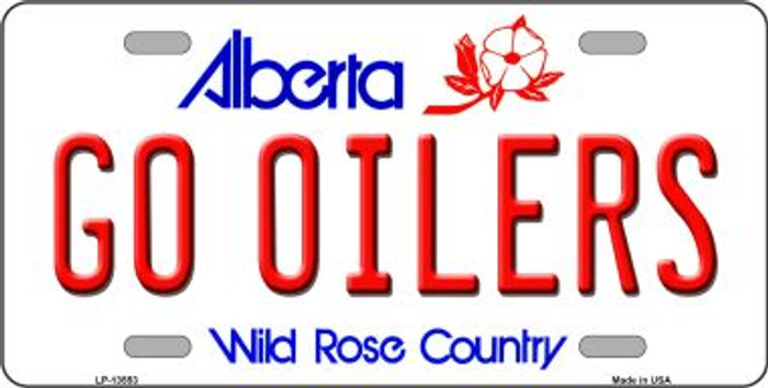 Go Oilers Novelty Metal License Plate Tag LP-13553