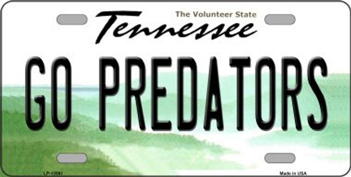 Go Predators Novelty Metal License Plate Tag LP-13561