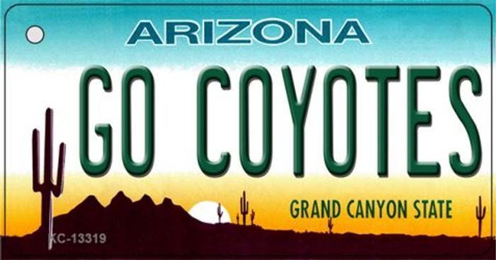 Go Coyotes Novelty Metal Key Chain KC-13319