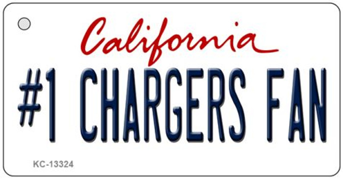 Number 1 Chargers Fan Novelty Metal Key Chain KC-13324