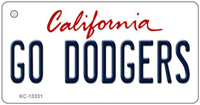 Go Dodgers Novelty Metal Key Chain KC-13331