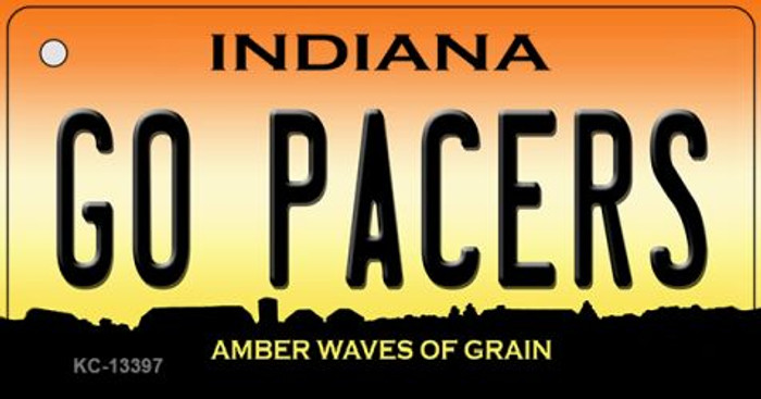 Go Pacers Novelty Metal Key Chain KC-13397
