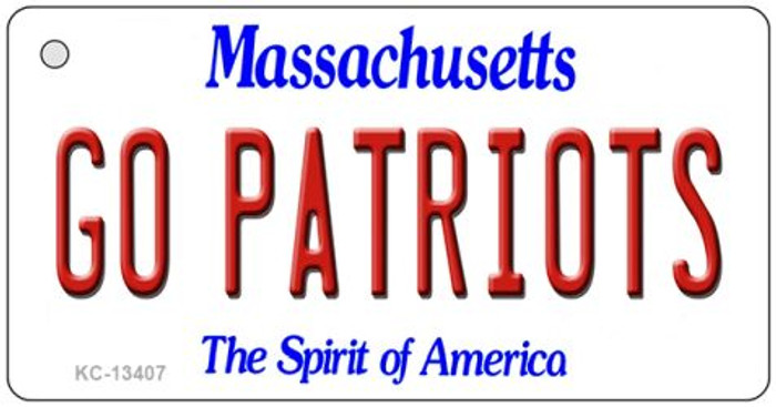 Go Patriots Novelty Metal Key Chain KC-13407
