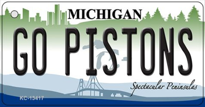 Go Pistons Novelty Metal Key Chain KC-134117