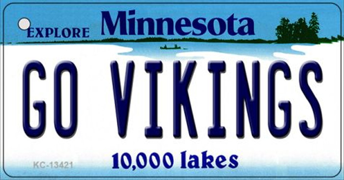Go Vikings Novelty Metal Key Chain KC-13421