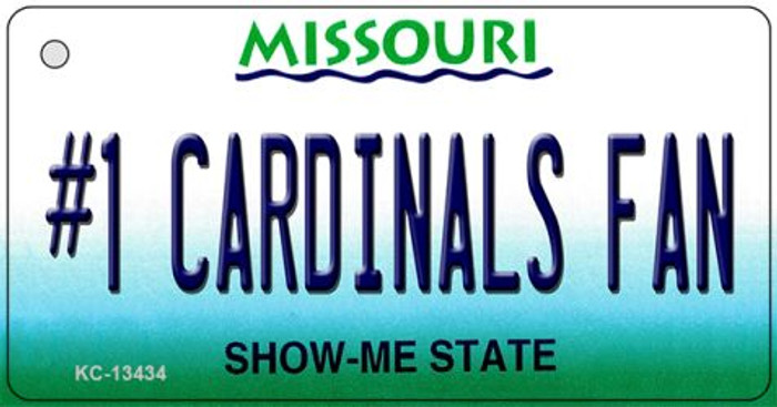 Number 1 Cardinals Fan Novelty Metal Key Chain KC-13434