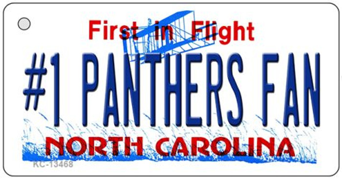 Number 1 Panthers Fan Novelty Metal Key Chain KC-13468
