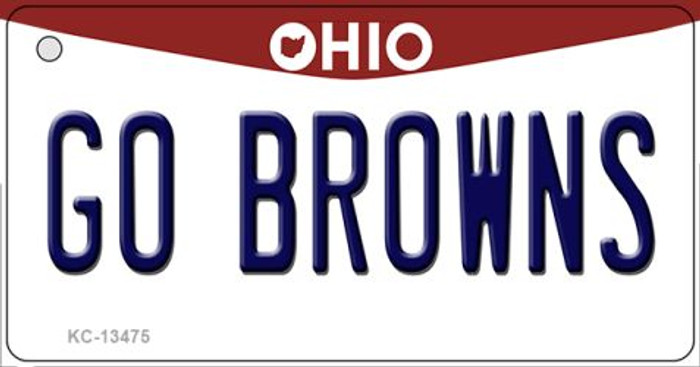 Go Browns Novelty Metal Key Chain KC-13475