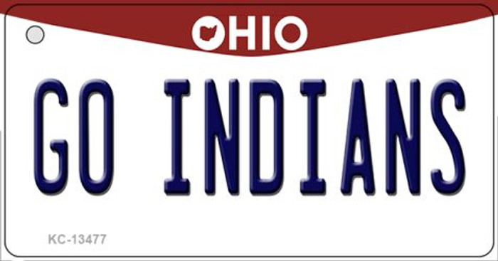 Go Indians Novelty Metal Key Chain KC-13477
