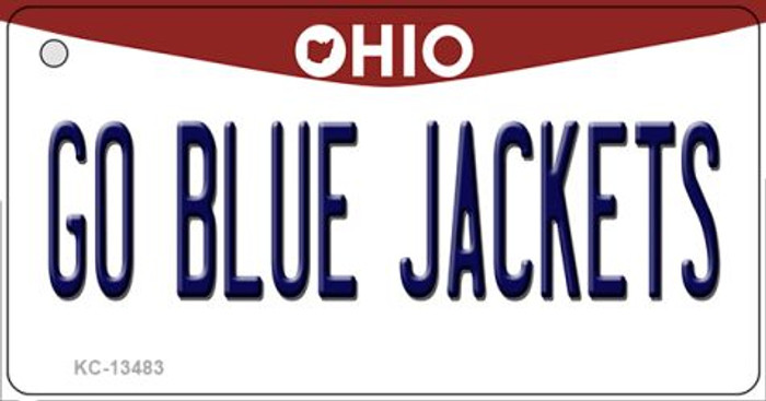 Go Blue Jackets Novelty Metal Key Chain KC-13483