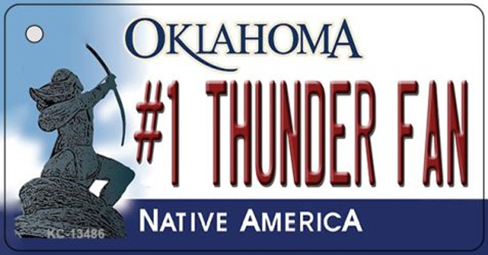 Number 1 Thunder Fan Novelty Metal Key Chain KC-13486