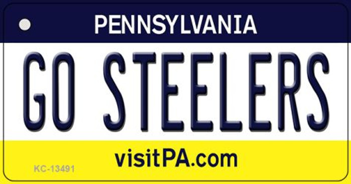Go Steelers Novelty Metal Key Chain KC-13491