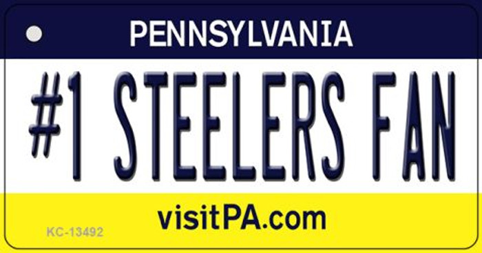 Number 1 Steelers Fan Novelty Metal Key Chain KC-13492