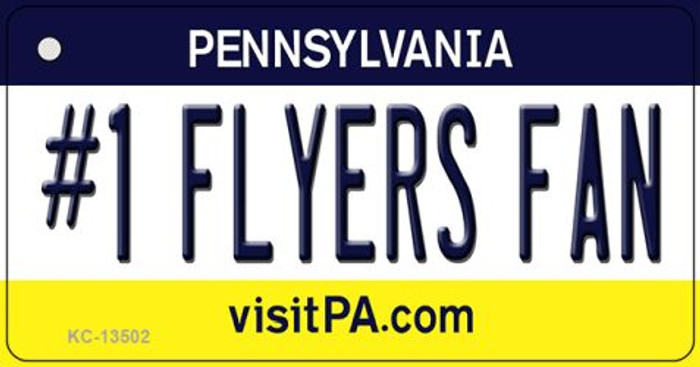 Number 1 Flyers Fan Novelty Metal Key Chain KC-13502