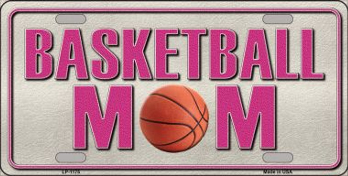 Basketball Mom Novelty Metal License Plate