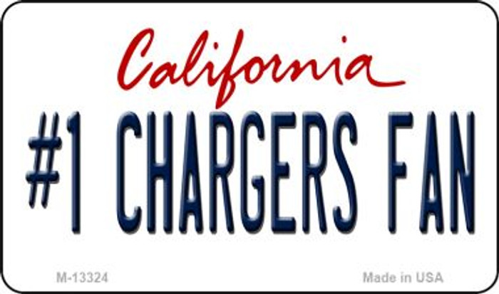 Number 1 Chargers Fan Novelty Metal Magnet M-13324