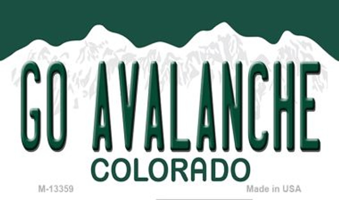Go Avalanche Novelty Metal Magnet M-13359