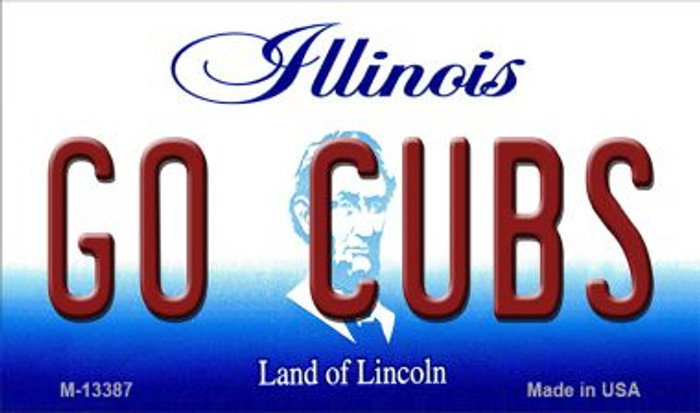 Go Cubs Novelty Metal Magnet M-13387