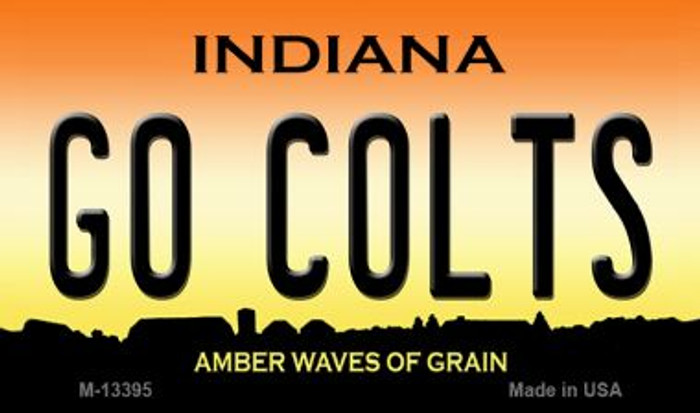 Go Colts Novelty Metal Magnet M-13395