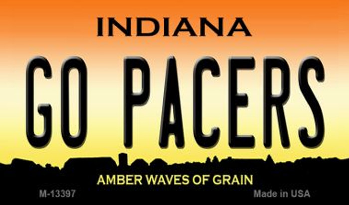 Go Pacers Novelty Metal Magnet M-13397