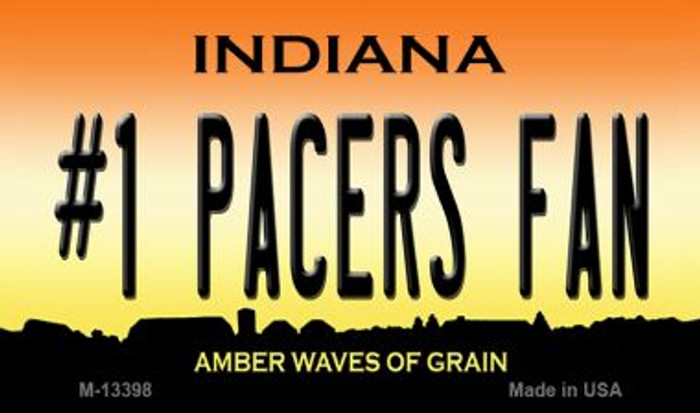 Number 1 Pacers Fan Novelty Metal Magnet M-13398
