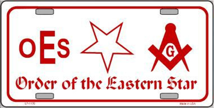 Order Of The Eastern Star Novelty Metal License Plate