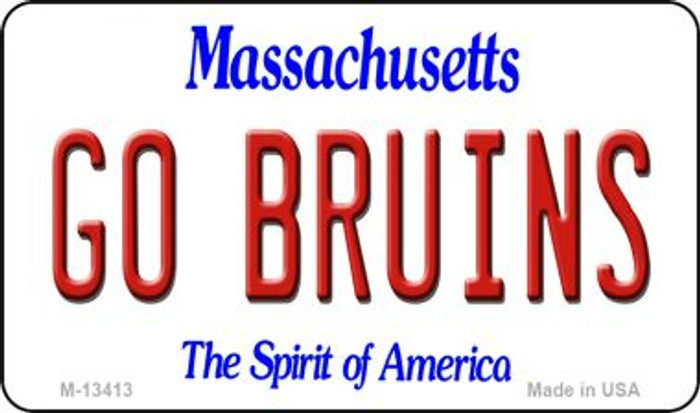 Go Bruins Novelty Metal Magnet M-13413