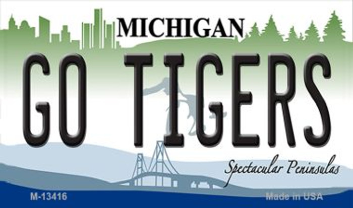 Go Tigers Novelty Metal Magnet M-13416