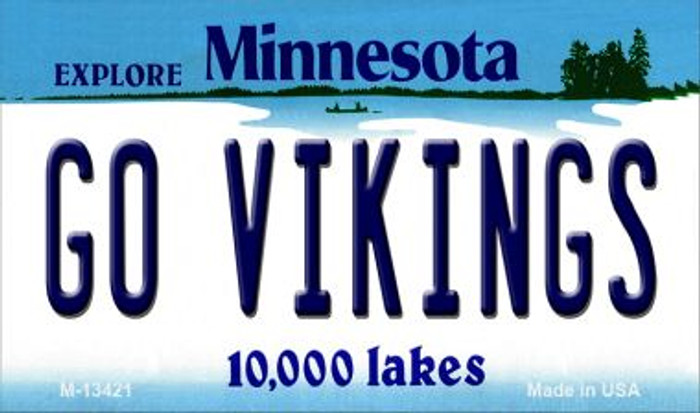 Go Vikings Novelty Metal Magnet M-13421