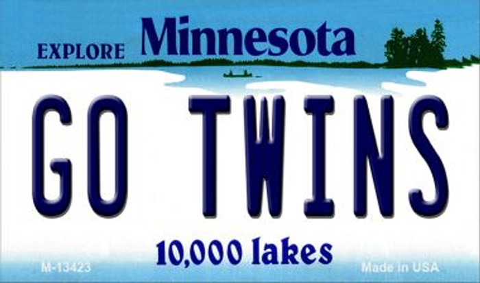 Go Twins Novelty Metal Magnet M-13423