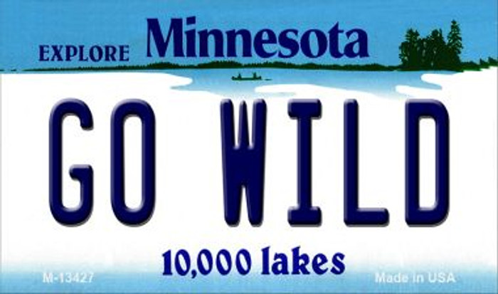 Go Wild Novelty Metal Magnet M-13427