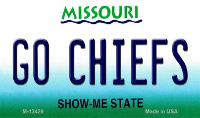 Go Chiefs Novelty Metal Magnet M-13429