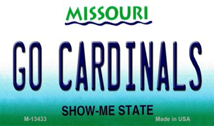 Go Cardinals Novelty Metal Magnet M-13433