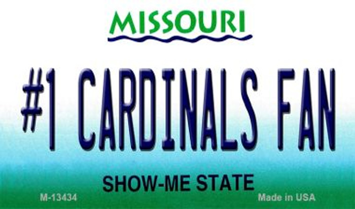 Number 1 Cardinals Fan Novelty Metal Magnet M-13434