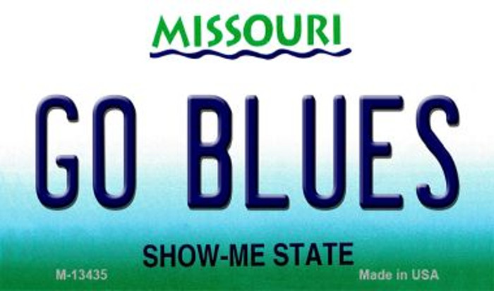 Go Blues Novelty Metal Magnet M-13435