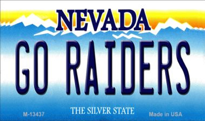 Go Raiders Novelty Metal Magnet M-13437
