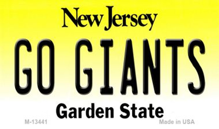 Go Giants Novelty Metal Magnet M-13441