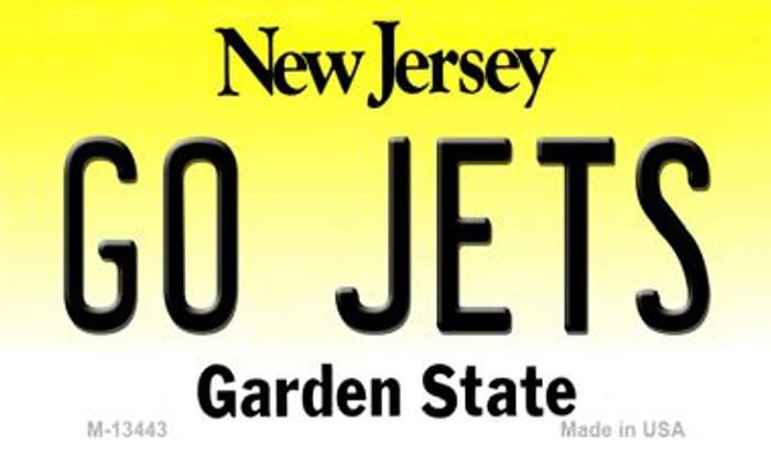 Go Jets Novelty Metal Magnet M-13443